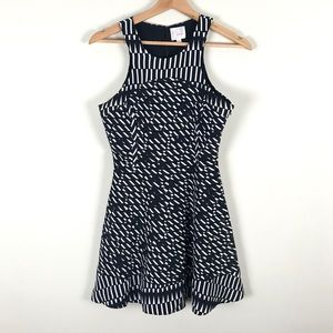 Parker Black and White 100% Silk Dress - XS